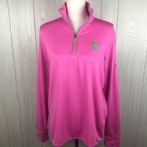 Ralph Lauren Golf pullover pink lightweight jacket